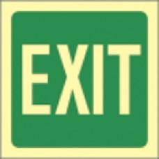 Πινακίδα αυτοφωτιζόμενη με σήματα ασφαλείας EXIT