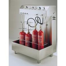 Υδραυλική δοκιμή πυροσβεστήρα