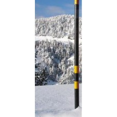 Χιονοδείκτης μεταλλικός κίτρινος-μαύρος διαμέτρου Φ60mm ύψους 3m