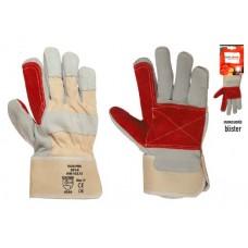 Γάντια εργασίας δερματοπάνινα διπλής ραφής