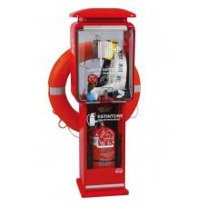 Πυροσβεστική φωλιά Ιταλίας διπλής όψεως με θέση για πυροσβεστήρα 6kg (έως 12kG)  ύψους 1080εκ.